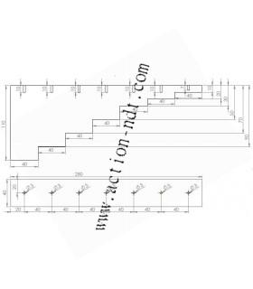 Cales à 7 gradins avec TFP 3mm