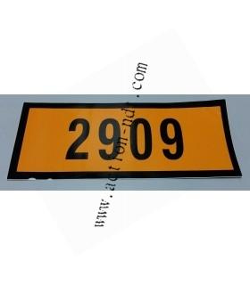 Autocollant Orange 12x30cm
