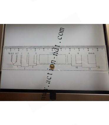 Négatoscope à LED 400x100mm densité 5.0D