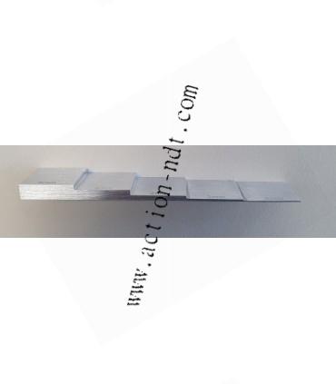 Cales 5 gradins aluminium 2024 0,5mm à 6mm