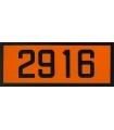 Panneau Orange 2916 12x30cm