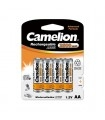 Piles rechargeables Camelion, accus AA AAA PP3