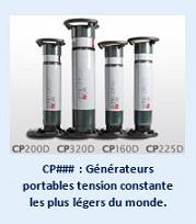 CP### : Générateurs portables tension constante les plus léger du monde.