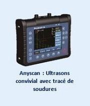 Anyscan : Ultrasons convivial avec tracé de soudures.