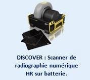 DISCOVER : Scanner de radiographie numérique HR sur batterie.