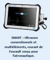 USMART : Ultrasons conventionnels et multiéléments, courant de Foucault conçu pour l'aéronautique.