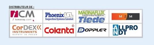 Distributeur de : ICM X-Ray, Phoenix ISL, Magnaflux/Tiede, M2M, CordEx, Colenta, Doppler, AllPro NDT